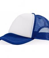 Truckers cap blauw wit trend