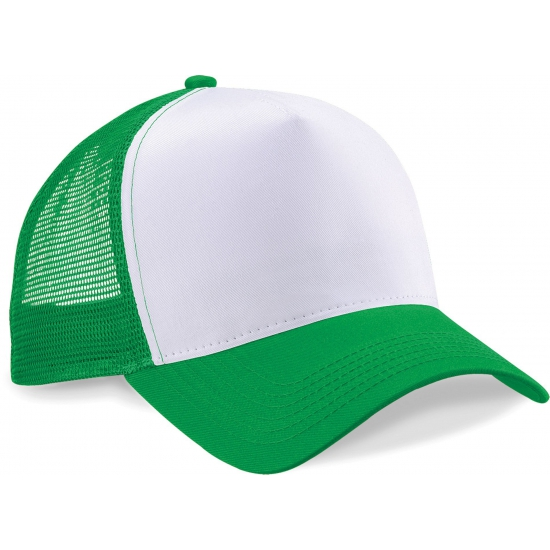 Truckerspetje groen wit trend