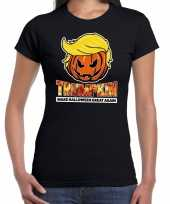 Trumpkin make halloween great again t-shirt zwart voor dames trend