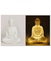 Tuin beeld boeddha 22 cm met verlichting trend