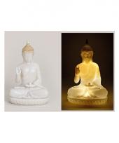 Tuin beeld boeddha 23 cm met verlichting trend