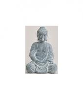 Tuin beeld boeddha blauw grijs 30 cm trend