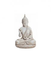 Tuin beeldje boeddha 24 cm trend