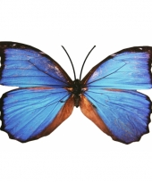 Tuin vlinder van metaal 30 cm trend