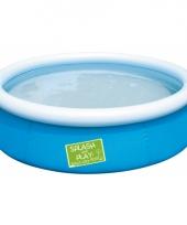 Tuin zwembad blauw 152 cm trend