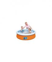 Tuin zwembad oranje 152 cm trend