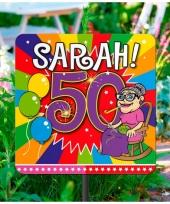 Tuindecoratie tuinbord 50 jaar trend 10063478