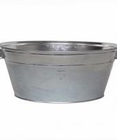 Tuindecoratie zilveren wasteil 13l trend