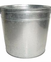 Tuindecoratie zilveren wasteil 37l trend