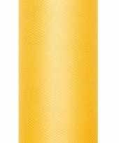 Tule stof geel 15 cm breed trend