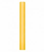 Tule stof geel 50 cm breed trend