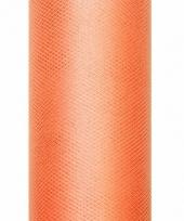 Tule stof oranje 50 cm breed trend