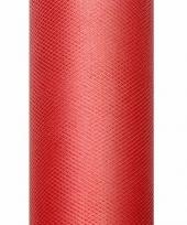 Tule stof rood 15 cm breed trend