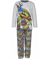 Turtles pyjama grijs trend