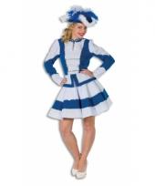 Twirl kostuum voor dames blauw met wit trend