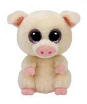 Ty beanie boo s piggley pluche roze varkentje knuffel 15 cm trend