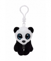 Ty beanie boo sleutelclip panda beer trend