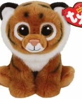 Ty beanie knuffel tijger 15 cm trend