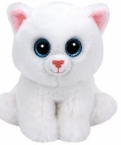 Ty beanie knuffel witte kat 33 cm trend