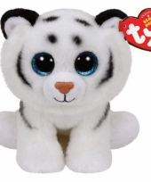 Ty beanie knuffel witte tijger 15 cm trend
