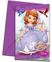 Uitnodigingen sofia het prinsesje 6 stuks trend
