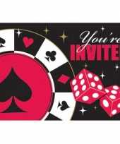 Uitnodigingskaart poker spel trend