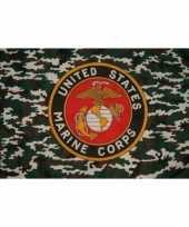 Us marine corps vlag with camouflage trend