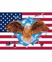 Usa eagle vlag 150 x 90 cm trend