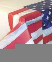 Usa versiering papieren tafelkleed 137 x 259 cm trend