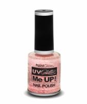 Uv glitter nagellak neon champagne roze trend