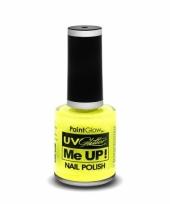 Uv glitter nagellak neon geel trend