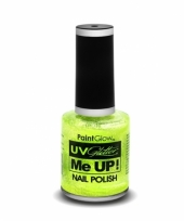 Uv glitter nagellak neon groen trend