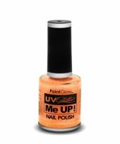 Uv glitter nagellak neon oranje trend