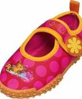 Uv meisjes waterschoenen roze met bloem trend