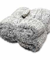 Vacht plaid deken knut antraciet grijs 150 x 200 cm trend