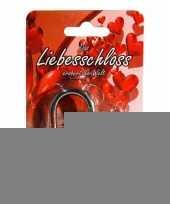 Valentijn hangslotje rood 3 8 cm trend