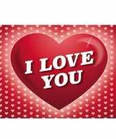 Valentijn romantische valentijnskaart i love you ansichtkaart met hartjes trend