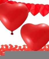 Valentijn versiering pakket rood trend