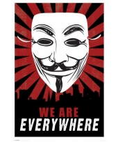 Vendetta masker poster anonymous trend