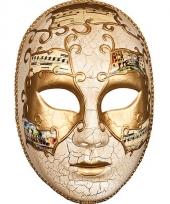 Venetiaans carnaval masker met goud trend