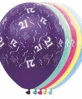 Verjaardag 21 jaar helium ballonnen trend