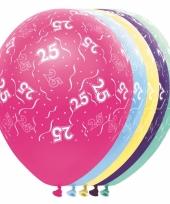 Verjaardag 25 jaar helium ballonnen trend