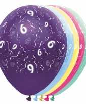 Verjaardag 6 jaar helium ballonnen trend