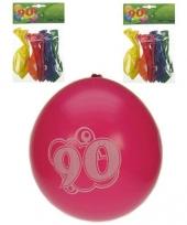 Verjaardag ballonnen 90 jaar trend