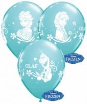 Verjaardag ballonnen blauw van frozen 6x trend