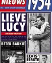 Verjaardag kaart met nieuws uit 1954 trend