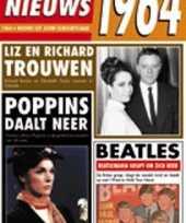 Verjaardag kaart met nieuws uit 1964 trend