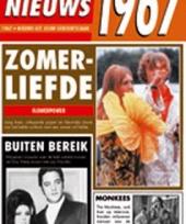 Verjaardag kaart met nieuws uit 1967 trend