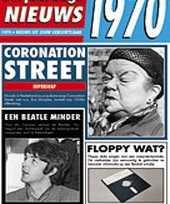 Verjaardag kaart met nieuws uit 1970 trend