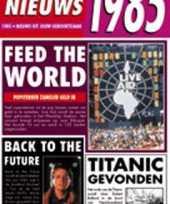 Verjaardag kaart met nieuws uit 1985 trend